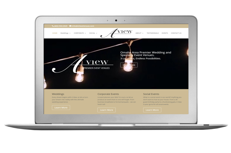 A View Venues Website