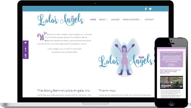 Lolo's Angels Responsive Website