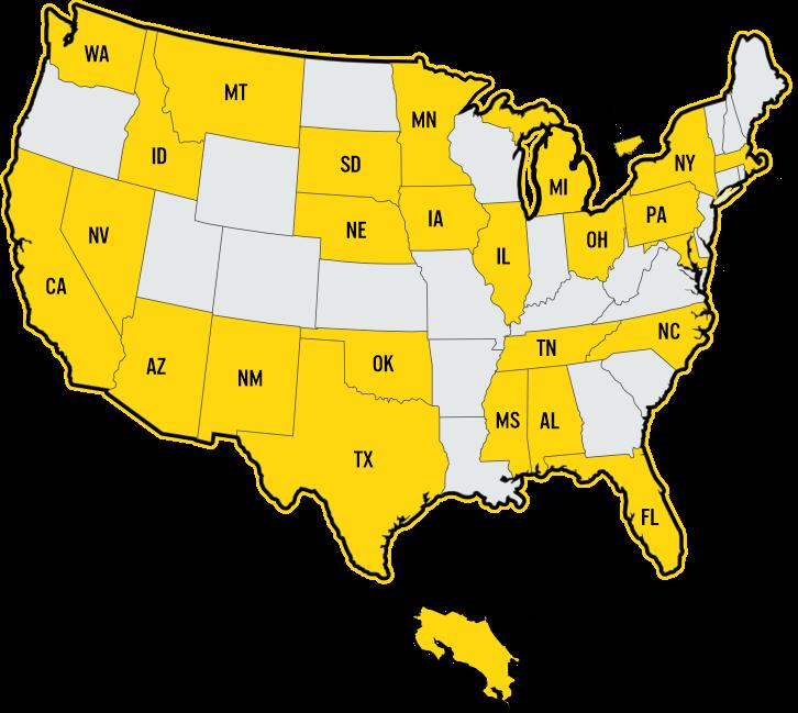 Client Map Modern Yellow